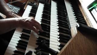 """HANFF JN : Choral """"Ach Gott, vom Himmel sieh darein"""" Hauptwerk Orgue Hinsz Kampen"""