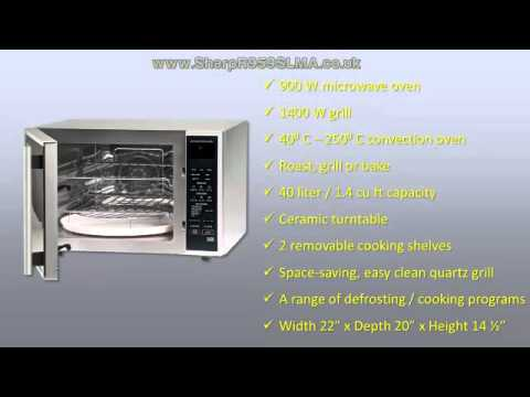 Sharp R959slma 40 Litre 900 Watt Digital Combination Microwave Oven With Quartz Grill