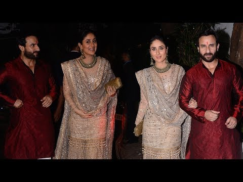Royal Couple Saif Ali Khan And Kareena Kapoor Khan At Aamir Khan's Diwali Bash