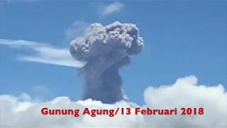 Gunung Agung Hari Ini 13 Februari 2018