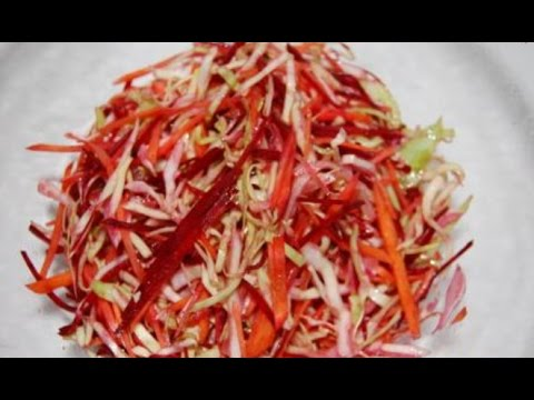 Салат из вареной свеклы: секреты здорового питания. Видео