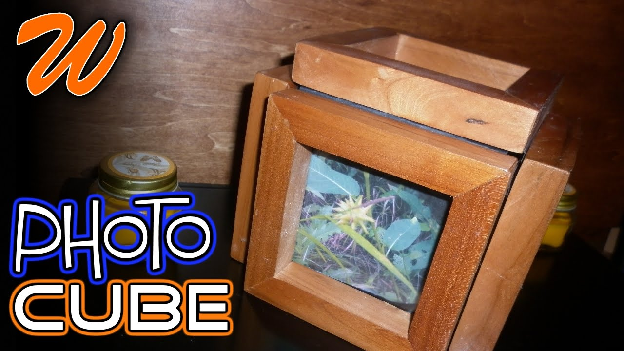 How To Make A Photo Cube | 3D Wood Photo Frame - YouTube
