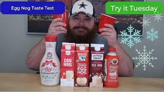 Egg Nog Taste Test - Trying different brands - Beardly Honest - Try it Tuesday