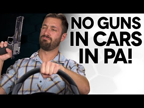 No Guns in Cars in PA - The Legal Brief!