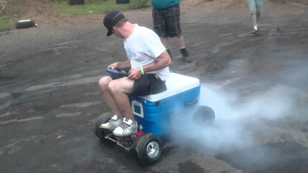 Motorised Esky Burnout