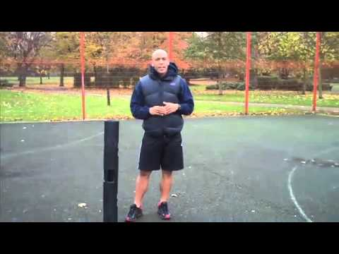 Marvin Burton Demonstrates ViPR Hopscotch Exercise