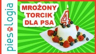 Mrożony torcik urodzinowy z owocami