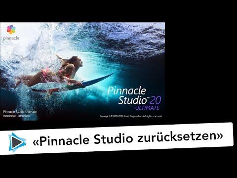 Pinnacle Studio Deutsch zurücksetzen neu initialsieren und Bibliothek löschen