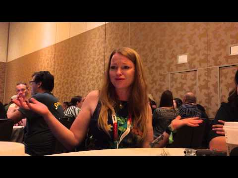 SARAH SCHECHTER - Supergirl Interview at San Diego Comic Con 2015