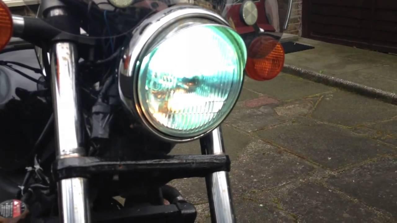 Honda Shadow 125 With Mounted Xenon Headlights Youtube