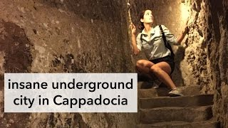 Incredible Underground City in Cappadocia! || Travel Turkey