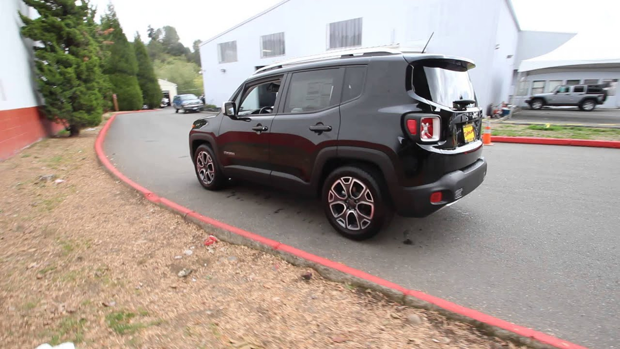 2015 jeep renegade limited black fpb78831 redmond seattle youtube. Black Bedroom Furniture Sets. Home Design Ideas