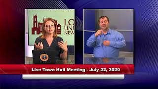 Loyola Town Hall Meeting for Parents - July 22, 2020 at 5 p.m. Central