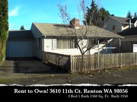 Rent To Own Three Bedroom Renton Home 500mo Purchase Credit