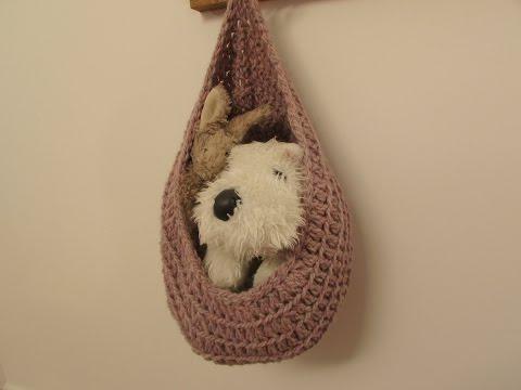 VERY EASY crochet hanging basket / storage basket tutorial