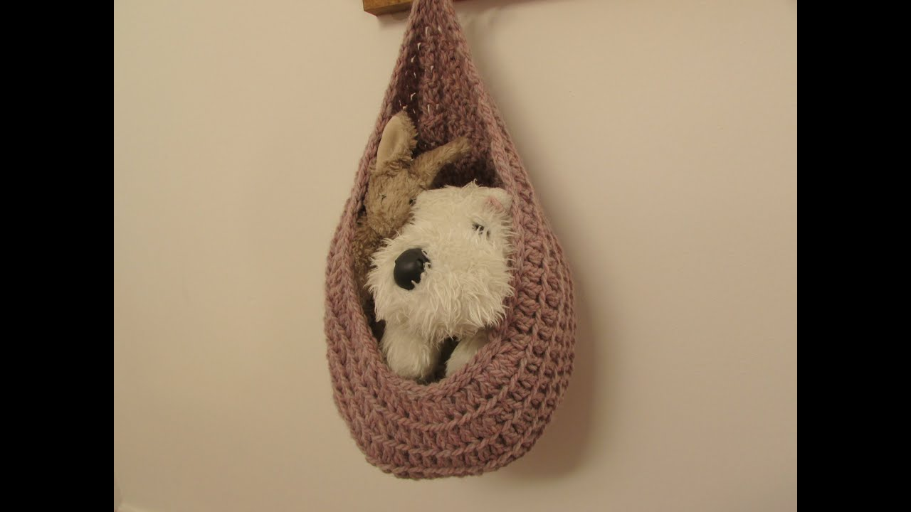 Very easy crochet hanging basket storage basket tutorial youtube bankloansurffo Image collections