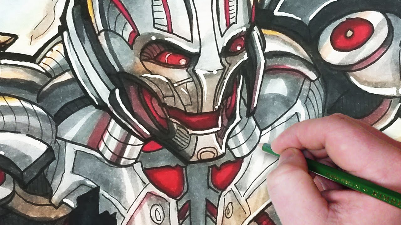 Let S Draw Ultron From The Avengers Youtube