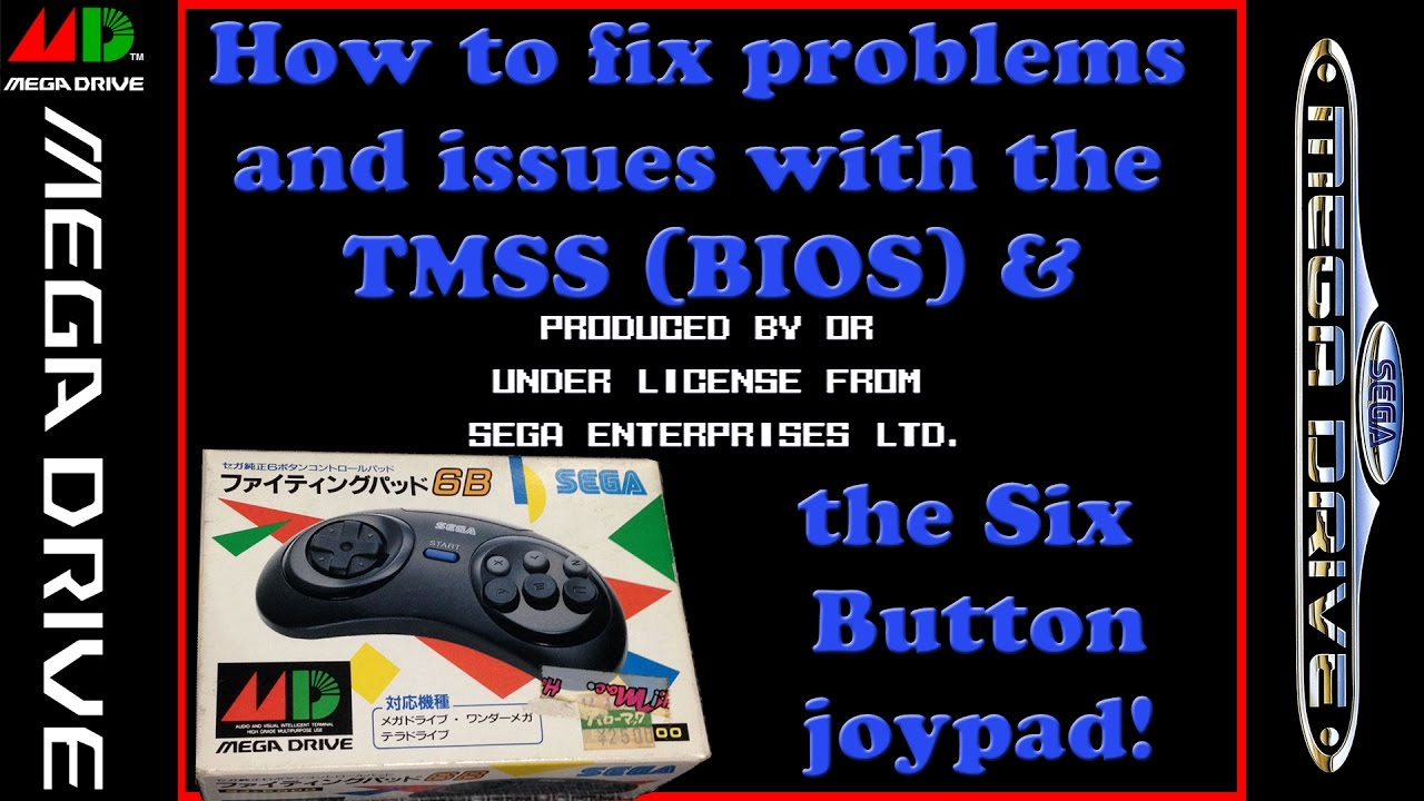 Gaming Knowledge - Sega Mega Drive / Genesis -TMSS Bios & Six Button  Controller Issues
