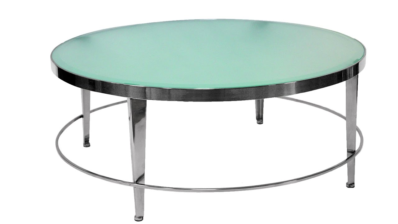 Round Glass Top Dining Table Metal Base - YouTube