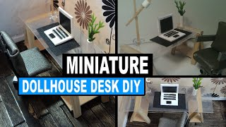 Doll Crafts | How To Make Miniature Dollhouse Desk