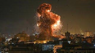 İsrail savaş uçaklarıyla vurdu Hamas roketle cevap verdi Gazze de savaş gecesi