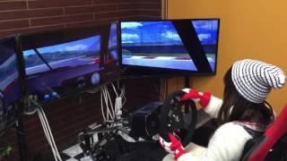 レーシングシミュレーターを体験してみた!www パドルシフト編 GTーR