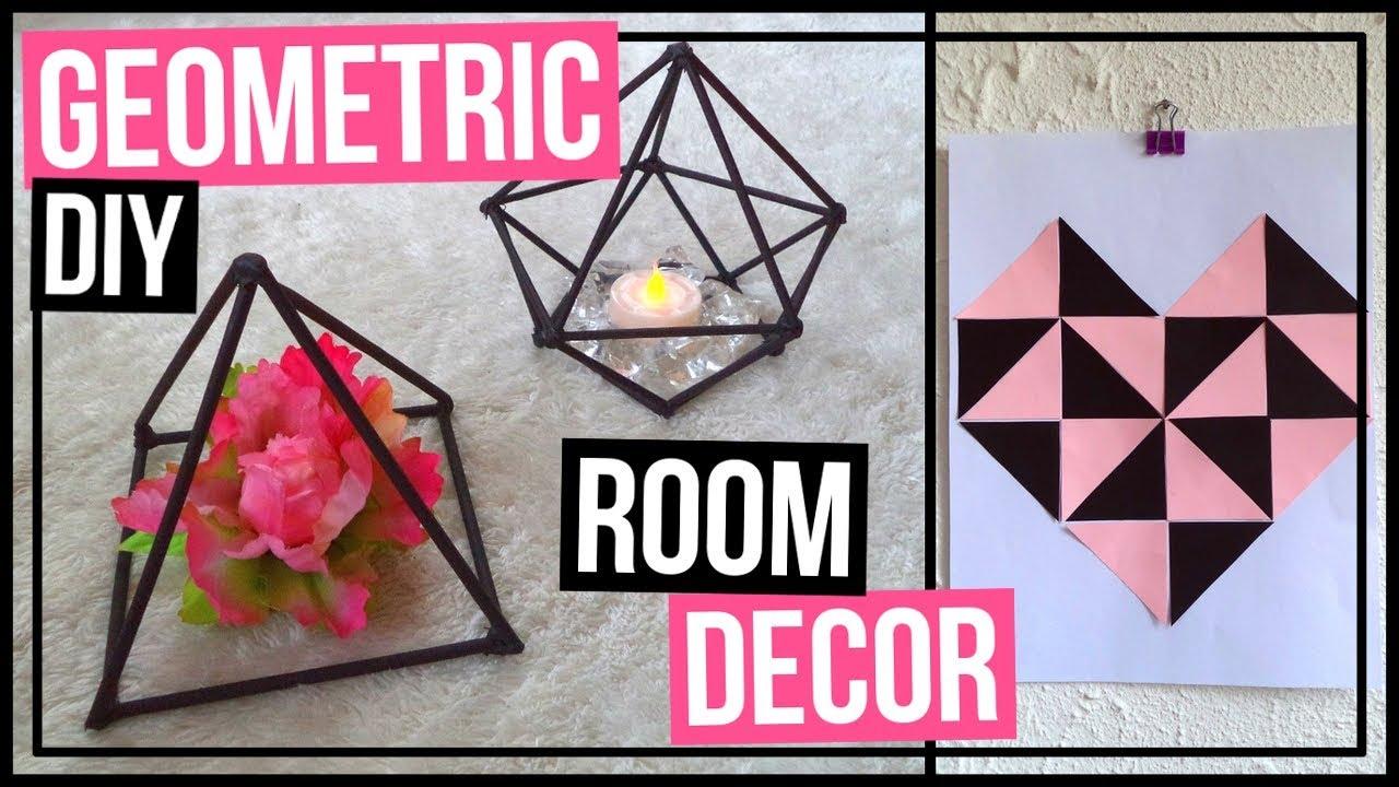 4 DIY Geometric Room Decor Ideas | DIY Geometric ...