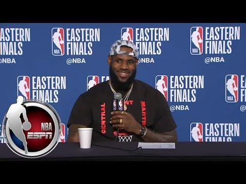 [FULL] LeBron James thanks reporter for calling him clutch for his career | NBA on ESPN