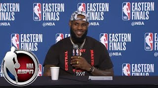 [FULL] LeBron James thanks reporter for calling him clutch for his career | NBA on ESPN thumbnail