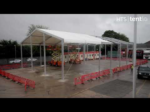 Industrial Temporary Building Construction Timelapse