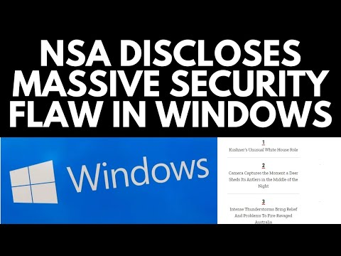 NSA discloses major security flaw in Windows 10
