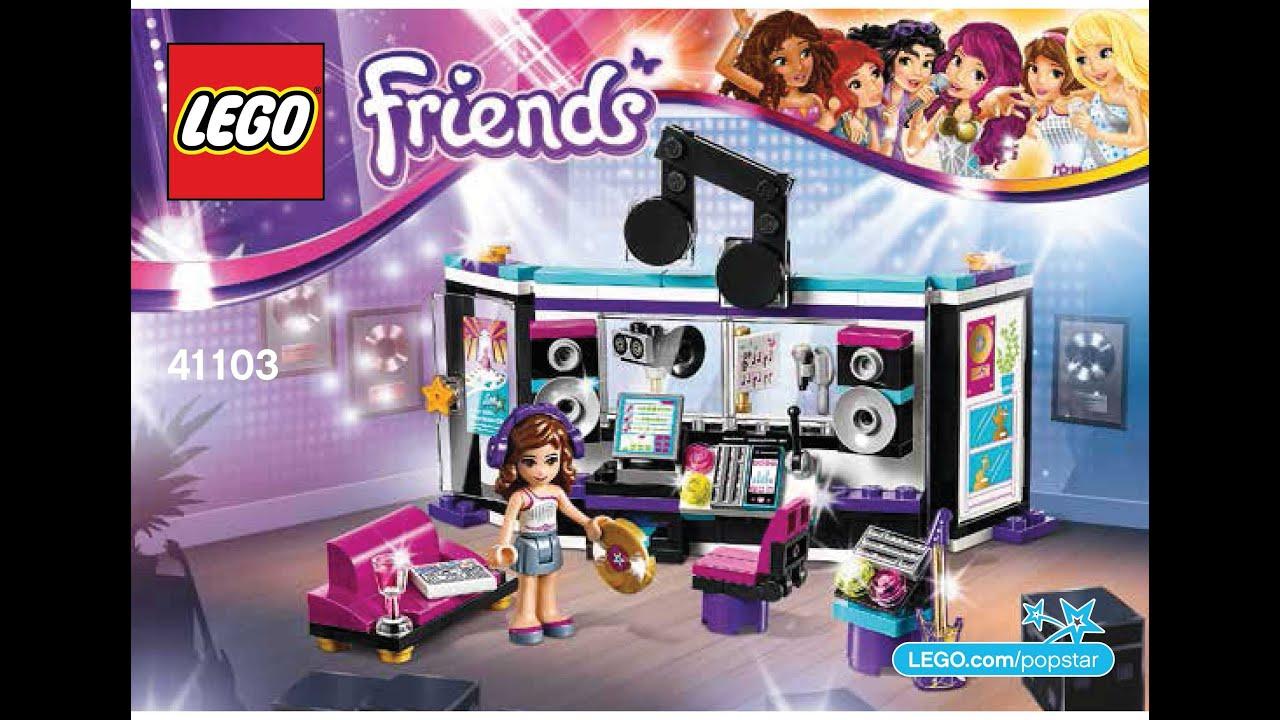 Lego 41103 Pop Star Recording Studio Instructions Lego Friends 2015