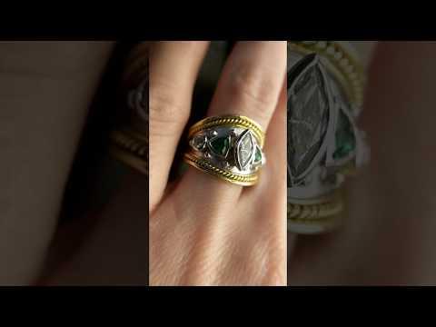 Custom Emerald and Diamond Ring by Secrete Fine Jewelry in Washington, DC and Bethesda