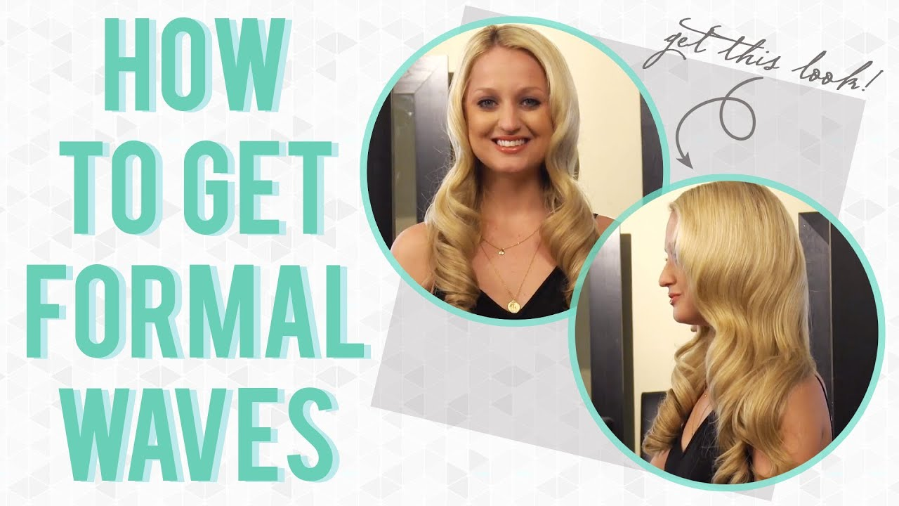 Hair Tutorial: How to Get Formal Waves - YouTube