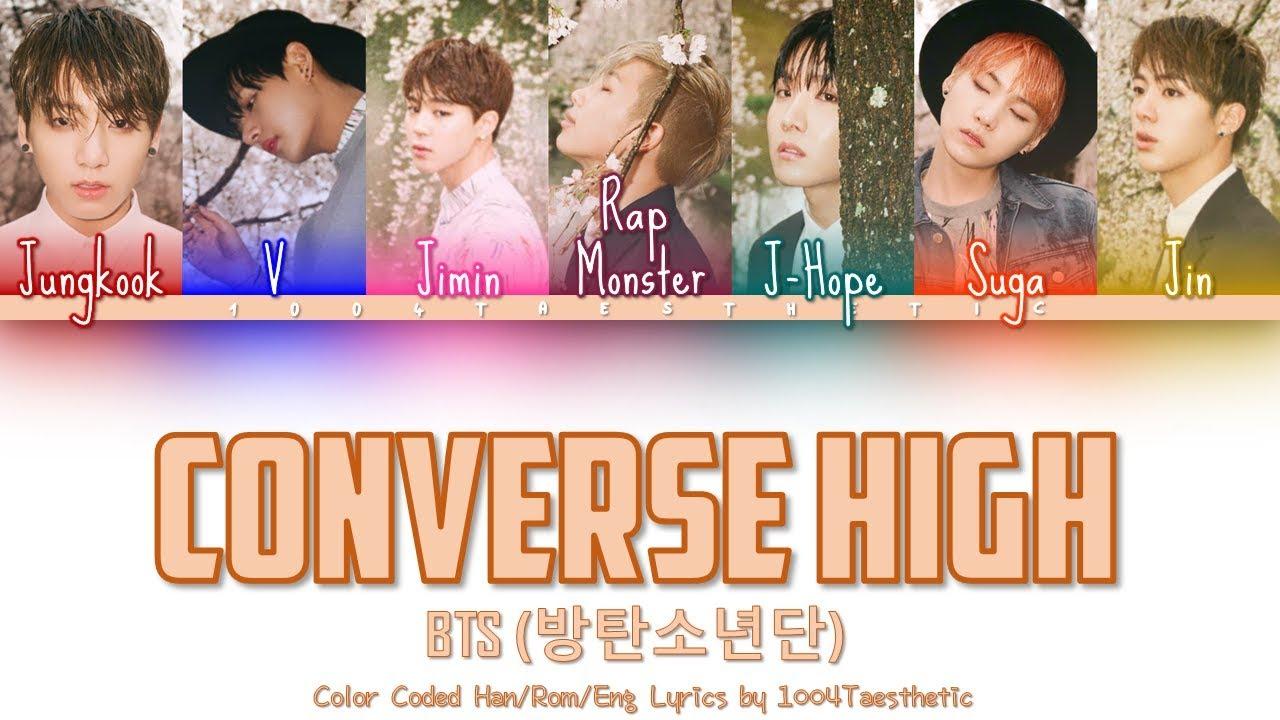 BTS (방탄소년단) - Converse High Color Coded Han Rom Eng Lyrics ... 0ed56c6c1
