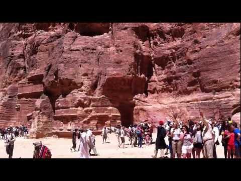 2011 around the Treasury at Petra, Jordan