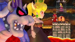 Dark Bowser & Bowsette Bosses in New Super Mario Bros. Wii HD