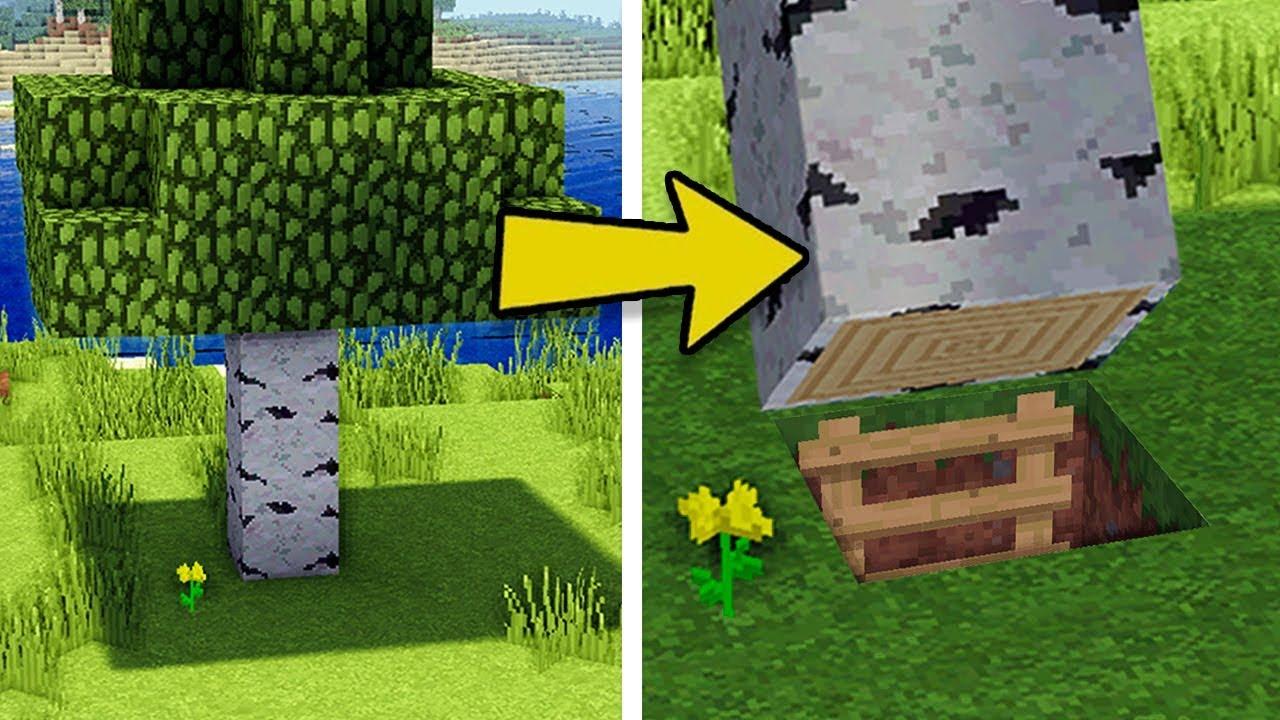 Minecraft: How to Build A Survival Secret Base Tutorial (Hidden House)
