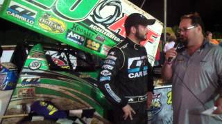 Port Royal Speedway 410 Sprint Car Victory Lane 8-03-13