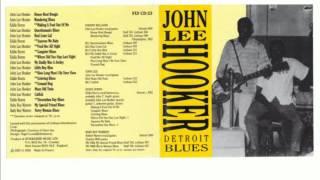 John Lee Hooker - Detroit Blues - 1950-51 - Full Album
