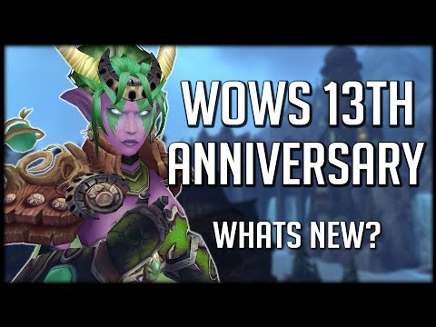 WHAT'S NEW? WoWs 13th Anniversary Event! | World of Warcraft Legion thumbnail