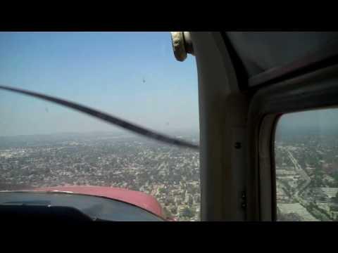 Return from LAX flyover, landing El Monte