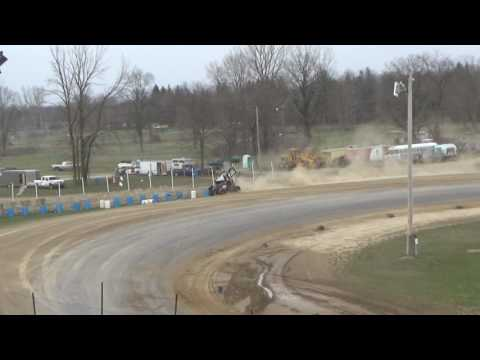 40. Sprints at Crystal Motor Speedway Test and Tune, 04-09-17