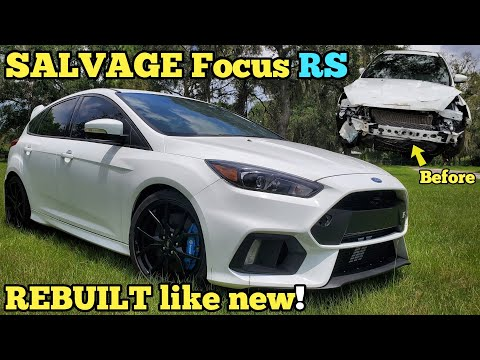 Rebuilding A Totaled Ford Focus Rs Using 25 Junkyard Parts To