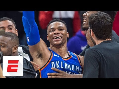 Russell Westbrook's 18th triple-double capped off by second-career game-winner | ESPN