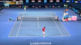 Roger Federer's Incredible Catch by Ball Boy - Australian Open