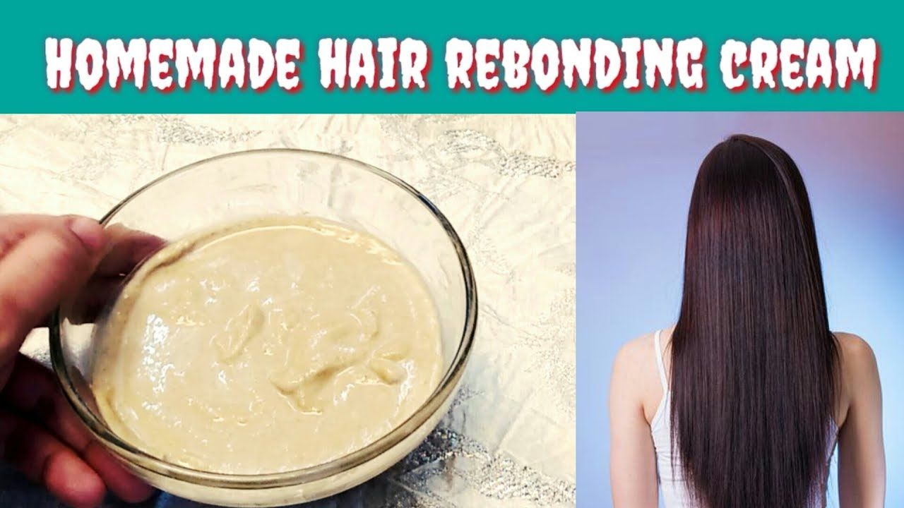Homemade Hair Rebonding Formula Cream