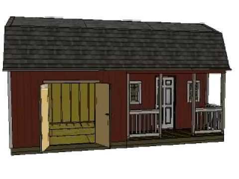 12x24 Barn With Porch Plans