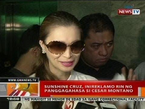 BT: Sunshine Cruz, inireklamo rin ng panggagahasa si Cesar Montano