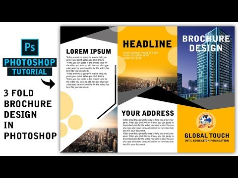 Photoshop Tutorial || Tri fold Brochure Design in Photoshop thumbnail